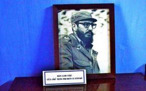 Un cuadro de Fidel en Quang Binh. Foto: VOV.VN