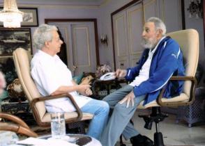 En La Habana, Fidel y Frei Betto el domingo 16 de febrero de 2014.