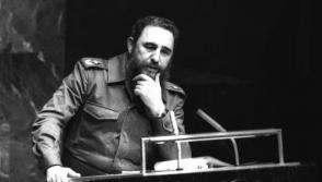 Fidel pronuncia un memorable discurso en el XXXIV Periodo de Sesiones de la Asamblea General de ONU, como presidente de los Países No Alineados. Foto: Joaquin Viñas. Fecha: 12.10.1979.