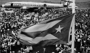Fidel llega a Venezuela, enero de 1959. Foto: Fidel Soldado de las Ideas.