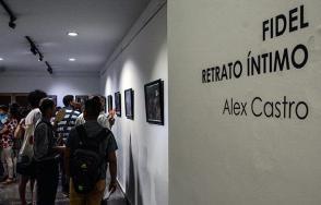 Inauguración de la exposición fotográfica Fidel Retrato Íntimo, de Alex Castro, en la Casa del Alba Cultural, en La Habana. Foto: Marcelino Vázquez/ ACN.