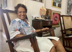 """Marta Rojas es la autora del libro """"El juicio del Moncada"""". Foto: Cubadebate."""