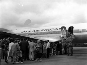 The first departure of Cuban children to Miami on a Pan American flight from Varadero. Photo: Archive