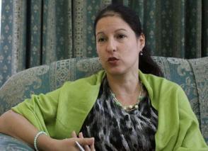 Leyma Martínez Freire, directora de Asia y Oceanía del ICAP, destaca los lazos de amistad de la Revolución Cubana con la región asiática. Foto: Nuria Barbosa León