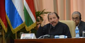 El presidente de Nicaragua, Daniel Ortega Saavedra, denunció todas las políticas intervencionistas contra su país. Foto: Juvenal Balán