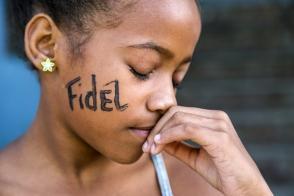 Tributo a Fidel en los nueve días de homenaje después de su desaparición física. Foto: Roberto Chile.