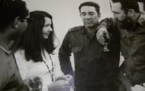 De izquierda a derecha, Oscar Oramas, Irma Cáceres, Comandante Lizardo Proenza, Fidel y Comandante Raúl Argüelles.