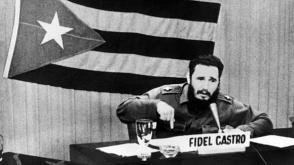 """Fidel Castro durante el discurso conocido como """"Palabras a los intelectuales"""", en la Biblioteca Nacional, el 30 de junio de 1961. Foto: Archivo del sitio Fidel Soldado de las Ideas."""