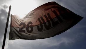 Bandera del Movimiento 26 de Julio. Foto: Ismael Francisco/Cubadebate.