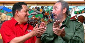 Chávez y Fidel, Fidel y Chávez, dos hombres, dos comandantes, dos guerreros eternos. Foto: Calixto N. Llanes