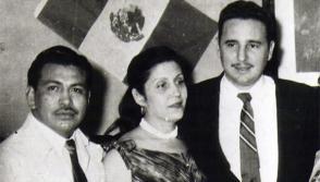 Arsacio Vanegas; María Antonia González, quien fue el vínculo entre la familia Vanegas y los revolucionarios cubanos, y Fidel Castro.
