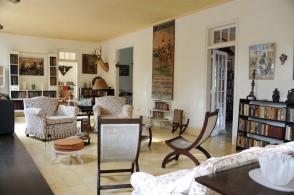 Interior de la Finca Vigía, casa museo del escritor estadunidense Ernest Hemingway en La Habana, Cuba