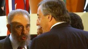 Fidel fue recibido por Nestor Kichner en su último viaje fuera de Cuba. Foto: Cortesía del autor
