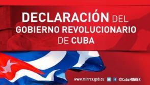 Declaración del Gobierno Revolucionario.