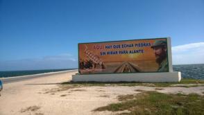 En el inicio del pedraplen Cayo Coco-Turiguanó se recuerda la determinación de Fidel que hizo posible lo que parecía inalcanzable