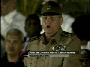 GD José Carrillo Gómez, presidente de la Asociación de Combatientes de la Revolución Cubana