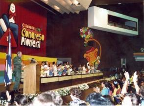 En la clausura del I Congreso de Pioneros, La Habana, 1ro de noviembre de 1991.