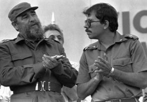 Fidel Castro y Daniel Ortega