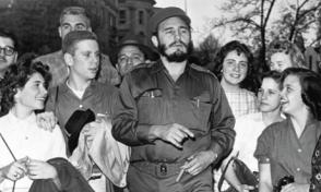 Sheldon Shapiro (second from left) with Fidel Castro 1