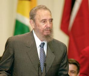 Fidel durante la celebración del aniversario 30 de las relaciones entre Caricom y Cuba.