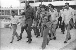 Fidel en la inauguración de la Escuela Vocacional Máximo Gómez, en Camagüey