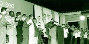 Fidel vio en la historia de Cuba, el arma que le permitiría movilizar a las masas en torno a los propósitos revolucionarios y de liberación nacional. (Autor no identificado)