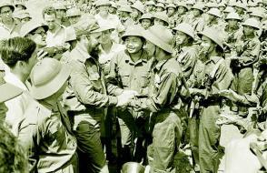 En Cam Lo, antes base militar yanqui, Fidel se encontró con el Frente Nacional de Liberación de Vietnam del Sur (VNA)