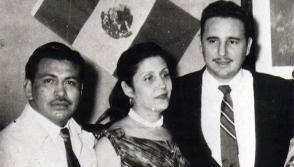 Fidel Castro en México junto a María Antonia