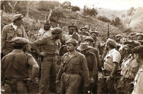 Milicianos destacados en operaciones de aquella epopeya que algunos llamaron Limpia del Escambray durante la captura de bandidos en una zona de ese lomerío central de Cuba