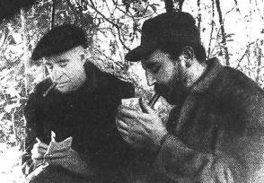Fidel Castro y Herbert Matthews en la Sierra Maestra.