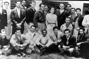 Fidel Castro y un grupo de revolucionarios en el exilio en México. Foto: Archivo