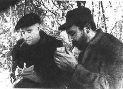 Fidel y Matthews en aquel encuentro. Esta imagen recorrió el mundo