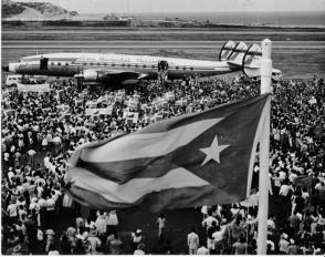 La acogida popular al líder de la Revolución Cubana en Venezuela, en enero de 1959, no tuvo precedentes. Foto: Archivo de Granma