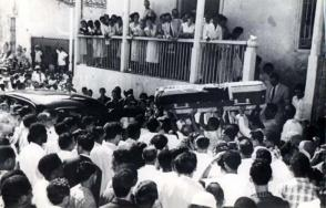El día de la muerte de Frank País García y Raúl Pujol fue escogido como fecha simbólica para honrar a los más de 20 000 cubanos que perdieron la vida en el empeño de derrocar a Batista. Foto: Archivo