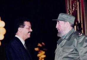 Leonel Fernández y Fidel Castro Ruz