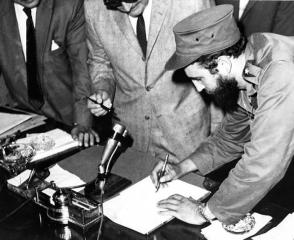 La actividad de Fidel como Primer Ministro fue muy intensa en 1959. Foto: Archivo de Granma
