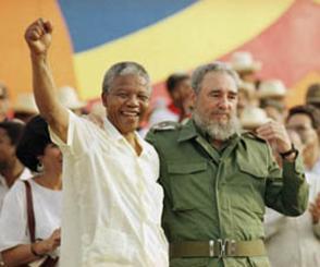 Fidel  Castro Ruz junto a Mandela en La Habana