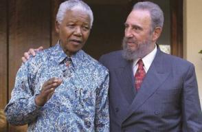 Nelson Mandela y Fidel, dos entrañables amigos que se admiraban mutuamente.