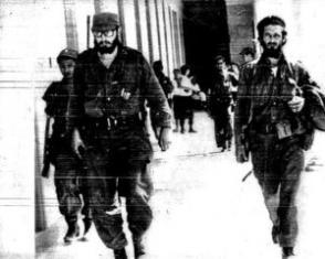 Marcelo Verdecia, junto al Comandante en Jefe, poco después del triunfo de la Revolución
