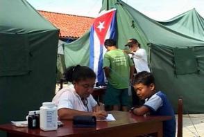 Durante 13 años, la brigada médica cubana prestó sus servicios en Bolivia. Foto: Tomada de brigadacbba.blogspot.com.