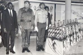 Operación Tributo: Fidel Castro y José Eduardo Dos Santos, rindieron la última guardia de honor
