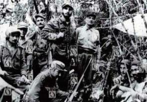 Fidel y otros de los integrantes del destacamento guerrillero desde su formación en Cinco Palmas.