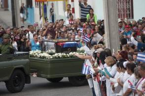 Caravana de la libertad que lleva las cenizas del líder histórico de la Revolución Cubana