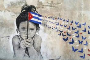 Viva Cuba ! Oeuvre de l'artiste Maisel Lopez. Photo : Tirée du compte FB de l'auteur