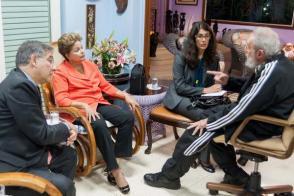 Fidel Castro Ruz y Dilma Rousseff sostienen encuentro en Cuba