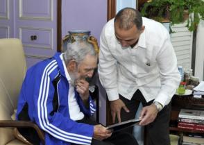 Fidel Castro y Antonio Guerrero