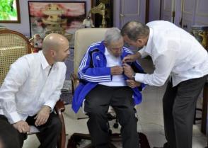 Fidel Castro, Gerardo Hernández y Antonio Guerrero