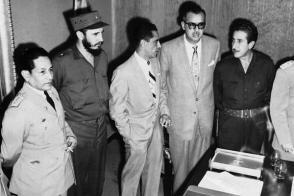 Fidel Castro durante su visita a Venezuela en 1959