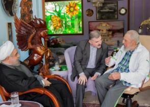 Fidel Castro y Hassan Rouhani, Presidente de la República Islámica de Irán