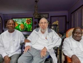 Fidel Castro junto a José Mário Vaz, Presidente de la República de Guinea Bissau
